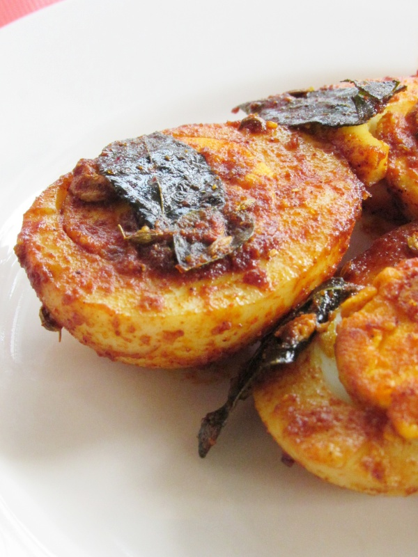 Masala Egg Fry Or Egg Masala Fry Is A Quick And Easy Starter Or Appetiser From Malabar Usually Whole Boiled Eggs Are Roasted In Coconut Oil And Masalas