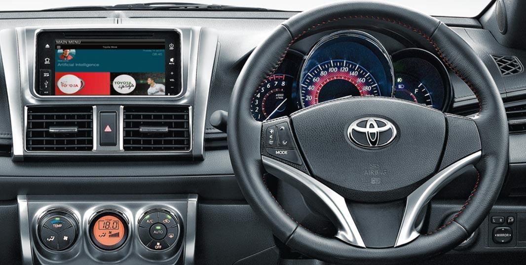 harga toyota yaris trd matic gambar interior mobil all new alphard perbedaan tipe e g dan sportivo pada bagian kemudi sudah di lengkapi dengan tombol untuk mengontrol audio seperti mengecilkan volume