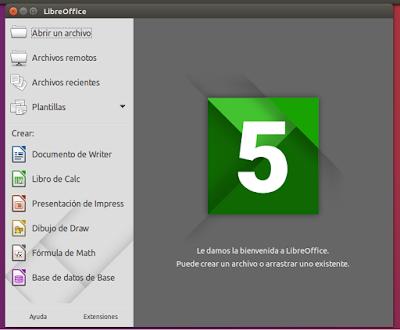 LibreOffice Centro de Inicio