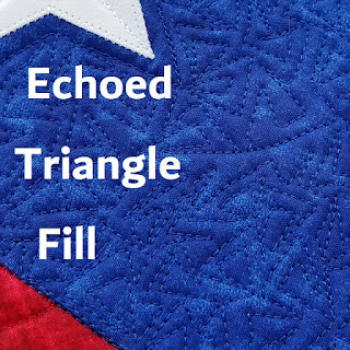 echoed triangle fill-quilt fill-freemotion quilting-quilting video