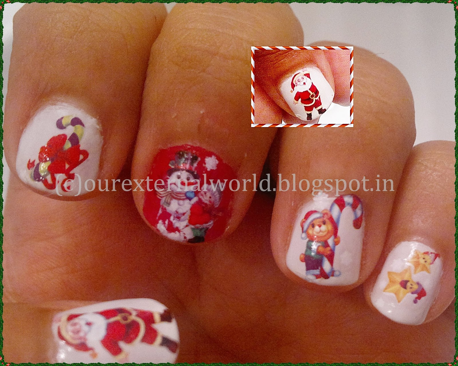Merry Christmas With A Christmas Nail Art
