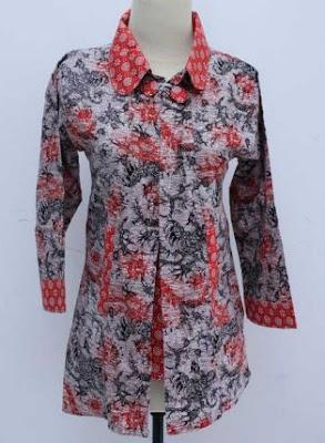 gambar baju batik kerja wanita