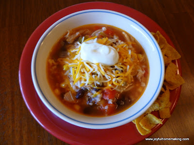 Chicken, Black Bean & Salsa Soup