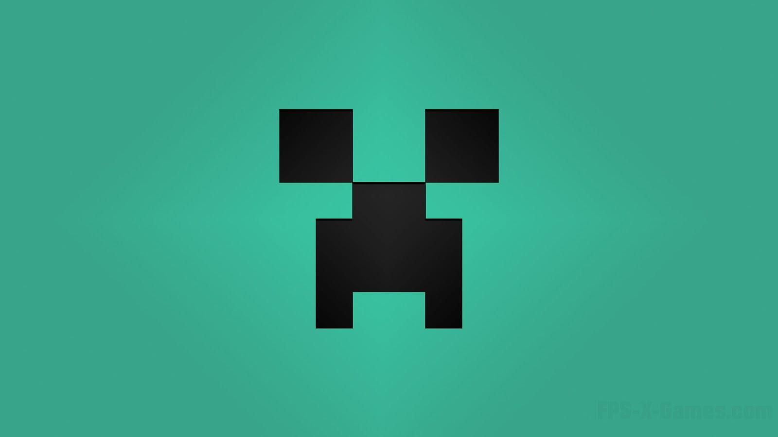 Minecraft Creeper desktop wallpapers cyan