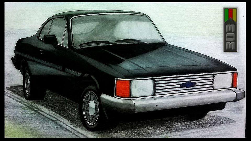 Ismael Desenhos Chevrolet Opala Diplomata 1985