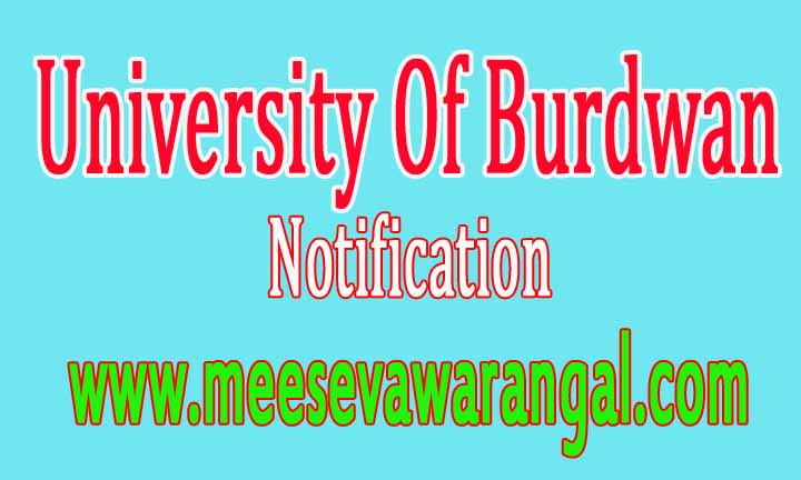 University Of Burdwan Notification /Enrollment Form Of B.P.Ed Course 2016-18