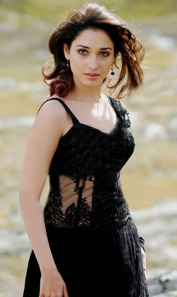 Tamanna Hot Stills In Black Dress