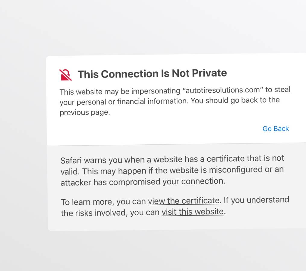 not private connection message