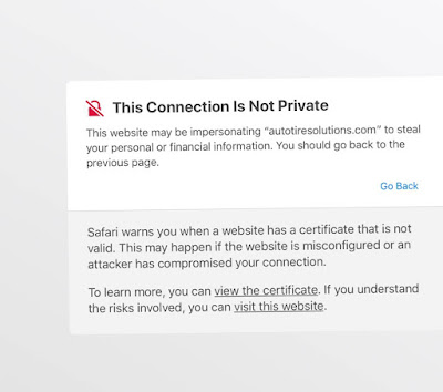 """iPhone safari error """"this connection is not private"""""""
