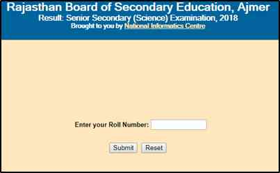 RBSE 12th Result 2019