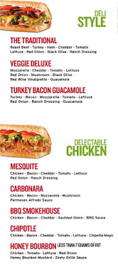 Quiznos Menu Prices