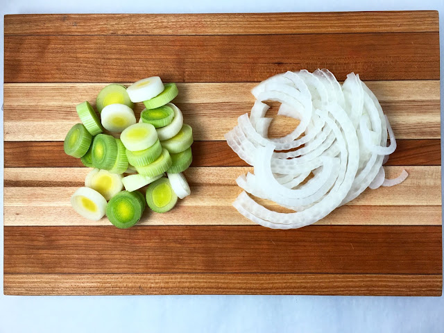 Sliced Onion and Leek