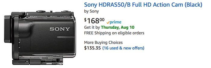 Sony HDR-AS50 в интернет-магазине