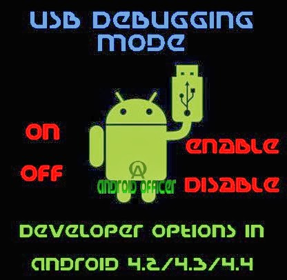USB Debugging, Developer Options in Android 4.2 4.3 4.4