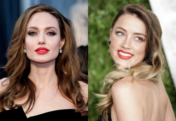 Amber Heard and Angelina Jolie