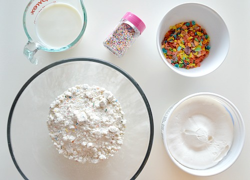 Colorful Cookie Dip- This fun, colorful no-bake dessert makes a great birthday or after-school treat! Here's how to make an easy colorful cookie dip!   no bake recipe, food, bright colors, cake mix, birthday, kid-friendly, dip recipe, appetizer, snack, dessert