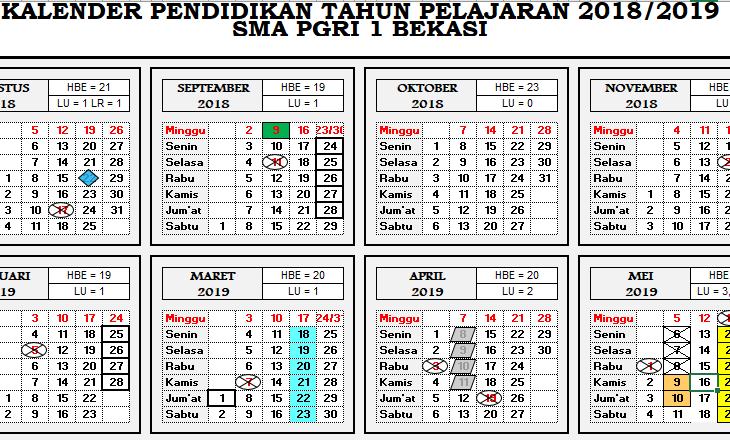 Pengertian, Contoh Kalender Akademik Jawa Barat 2018/2019