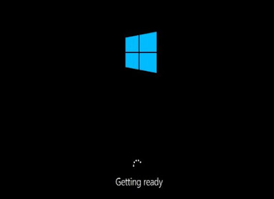 getting ready windows 10 install