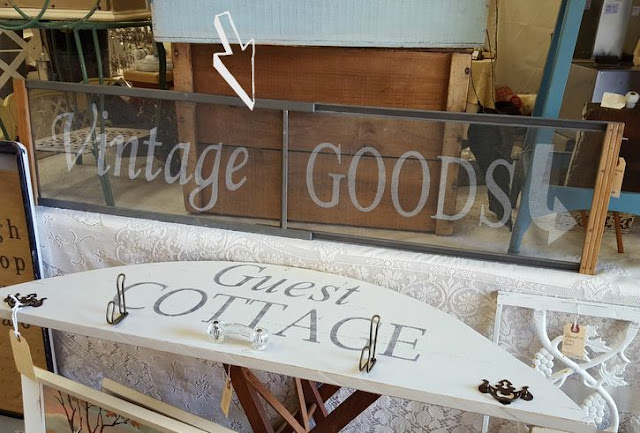 stenciled window screen from MySalvagedTreasures.com