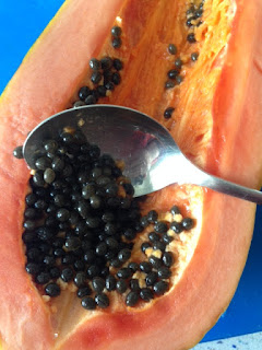 Vaciar papaya