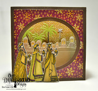 Our Daily Bread Designs Stamp/Die Duos: Great Joy, Custom Dies: Diorama, Bethlehem Border, Holy Night, Paper Collections: Coordinating Christmas 2015, Christmas 2015