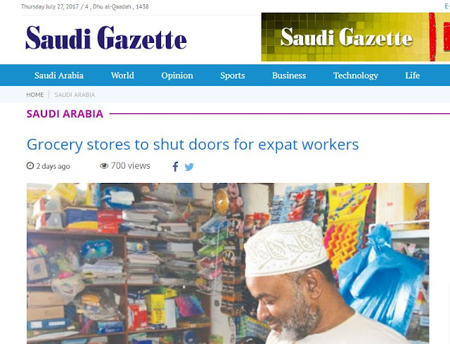 A Few Months Ago The Kingdom Announced That Jobs In Saudi Malls Will Be Off Limits To Expatriate Workers