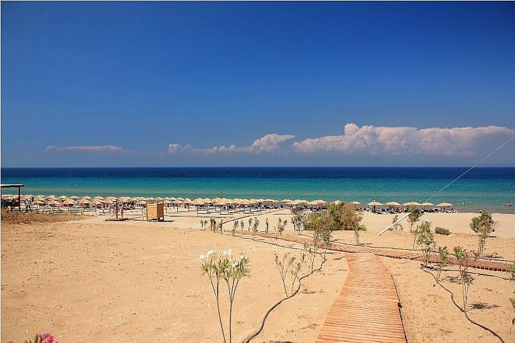 The longest beach on Zakynthos Island, Greece