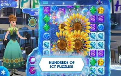 تحميل لعبة Frozen Free Fall مهكرة للأندرويد اخر اصدر apk + data