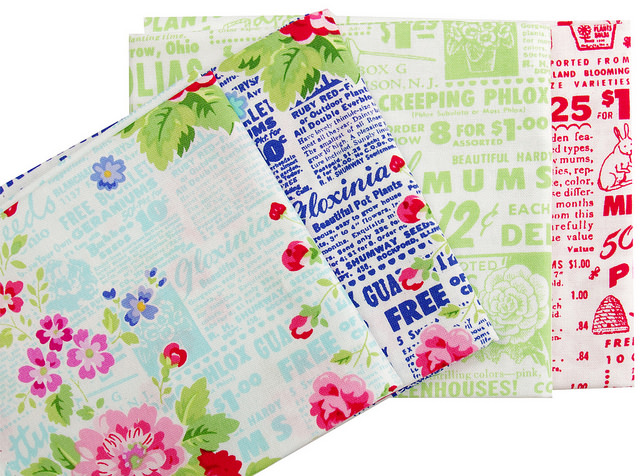 Pam Kitty Garden - Focal and Text Prints | Red Pepper Quilts
