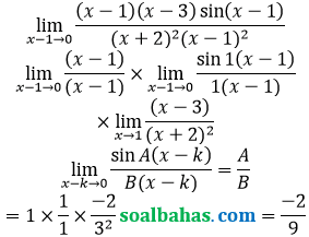 bahas limit trigonometri