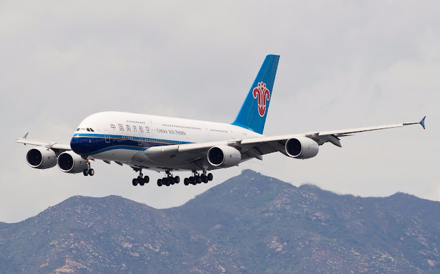 A380-800 of China Southern Airlines Approaching