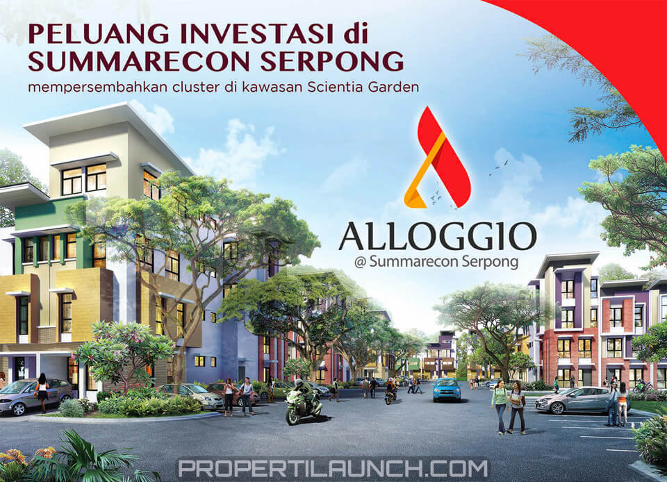 Investasi Rumah Cluster Alloggio Scientia Garden