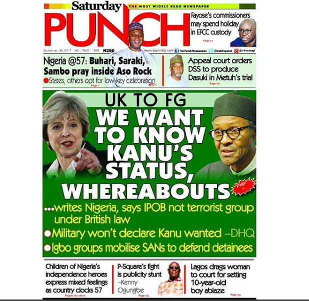 nigerian newspapers today punch
