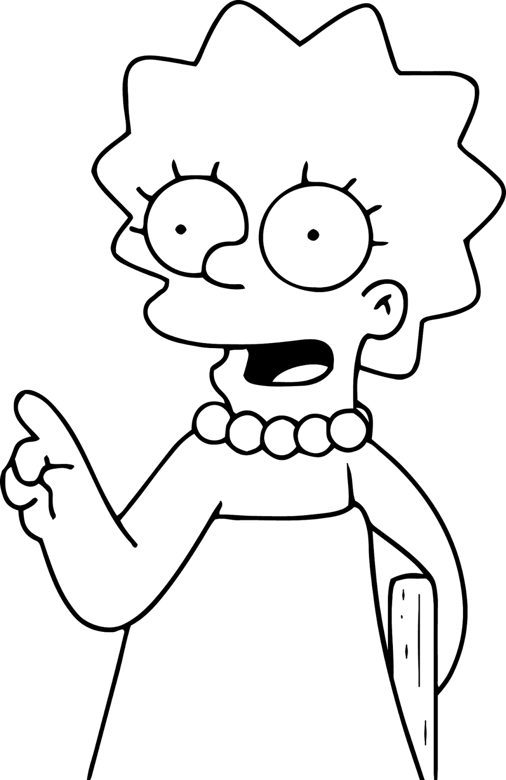 P ginas para colorear originales original coloring pages for Coloring pages simpsons