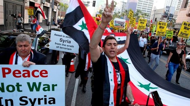 Protests in Los Angeles, San Francisco against Syria airstrikes