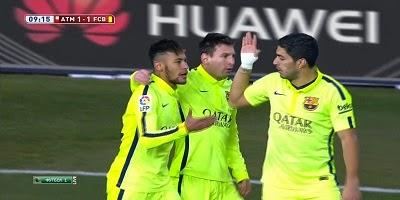 Copa Del Rey : Atletico Madrid 2 vs 3 Barcelona Madrid 28-01-2015