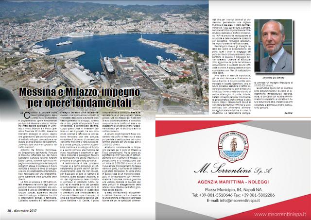 DIC 2017 PAG 30 - Messina e Milazzo, impegno per opere fondamentali