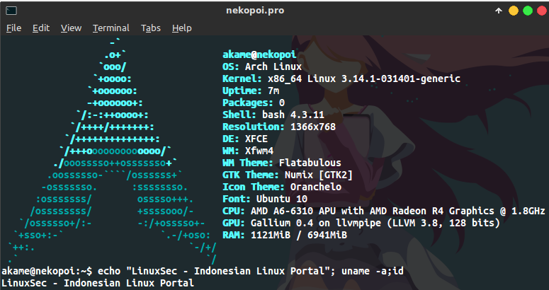 Cara Install Open Source Video Driver di Arch Linux