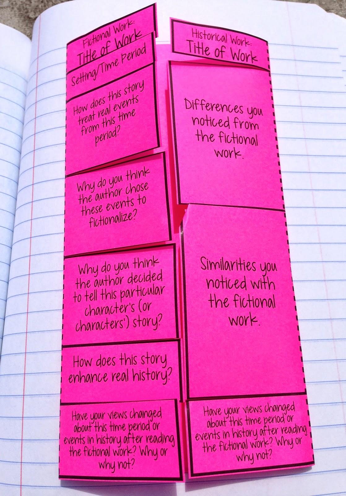 Interactive Notebook Vocabulary Template