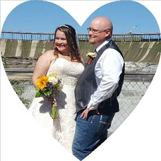 Daughter in law and Son Dawn and Randy at Ryan Dam Montana on their wedding day