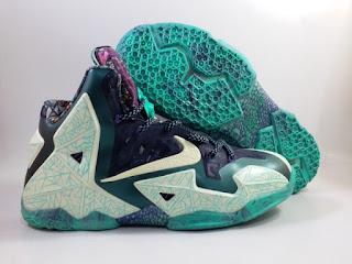 Nike LeBron 11 Graffiti Green   Jual Sepatu Basket Replika Import Premium