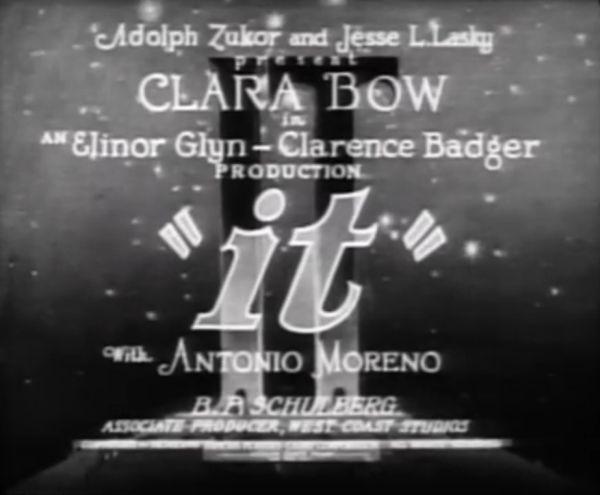 It 1927 title screen