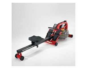 First Degree Fitness NEWPORT AR Water Rower Rowing Machine, finished in red