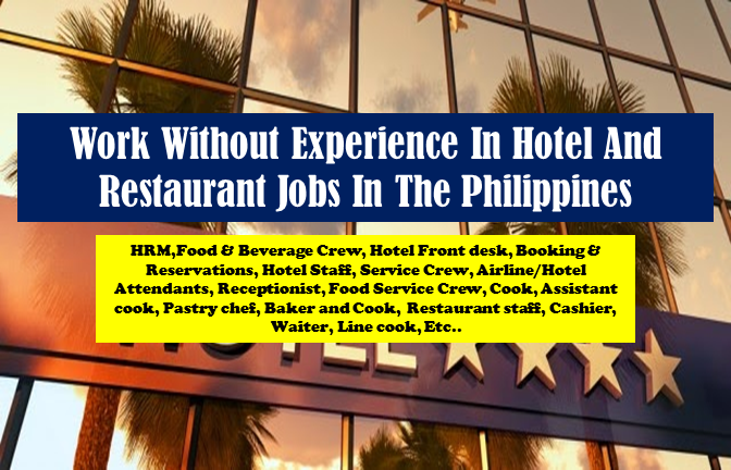 """Advertisements""    JOB VACANCIES 1. HRM,Food & Beverage Crew,Hotel Front desk,Booking & Reservations:ANY COURSE SALARY: PHP 14,000 - PHP 25,000 No experience required WORK LOCATION Address Cubao, Quezon City, Metro Manila, Philippines Telephone No.02-7818527 OFFICE IS LOCATED AT: JOBCLINIK INC. Rms. 403-405 Diamond Finance Building,603 Edsa Cubao, Quezon City JC Inc. (Recruitment Firm)  2. 70 HOTEL RESERVATION / 250 AIRLINE TRAVEL SPECIALISTS NO EXP NEEDED! SALARY: PHP 15,000 - PHP 18,000 LOCATION: 9/F Triumph Building, 1610 Quezon Avenue, South Triangle,Quezon City LANDMARKS: Hi-Top Supermarket, Kenny Rogers Restaurant and Shell Gasoline station. E-MAIL: apply@ggiservices.com CONTACT NUMBERS: GLOBE:0917-3019882/0917-5042749 LANDLINE: 352-0455 GGIS, Inc (Recruitment Firm)  3. Hotel&Travel Booking Staff, Flight&Airline Ticketing Attendant! No EXP Req! 18k SALARY: PHP 15,000 - PHP 20,800 WORK LOCATION Address Unit 605, ITC Building, 337 Gen. Gil Puyat St., Makati City Contact us: Call/Text: 0917-775-3891/0933-855-6363/02-8938225 Spark Personnel Development and Training Services Inc. (Recruitment Firm)  4. 25K DAYSHIFT Call Center Agent Hotel Reservation & Airline Reservation CSR SALARY: PHP 25,000 - PHP 32,500 WORK LOCATION View larger map/directions Address Guadalupe Nuevo, Makati, NCR, Philippines Text us thru our numbers- 09178594800, 09267118570 or 09322094008 YOUR NAME AND MOBILE PHONE NUMBER FOR FASTER SCHED OF INTERVIEW. WE ACCEPT WALK-IN APPLICANTS! OUR OFFICE IS LOCATED AT: INTERNATIONAL INNOVATIVE WORK CENTRAL Room 305 Guadalupe Commercial Complex EDSA Guadalupe Makati City WC Inc. (Recruitment Firm)  5. Hotel Staff,Service Crew,Airline/Hotel Attendants,Receptionist URGENT HIRING! SALARY: PHP 14,000 - PHP 23,000 Text us through our numbers- 0906-448-7360 , 0928-864-7839, 0917-854-1470 and send us your NAME AND MOBILE PHONE NUMBER FOR FASTER SCHED OF INTERVIEW or call us at 02-7818527. WE ACCEPT WALK-IN APPLICANTS. OUR OFFICE IS LOCATED AT: JOBCLINIK INC. Rms. 403-405 Diamond Finance Building,603 Edsa Cubao, Quezon City JC Inc. (Recruitment Firm)  6. VERY URGENT!TRAVEL AGENTS WITH GDS (DOS-BASED)42K PACKAGE BGC SALARY: PHP 40,000 - PHP 45,000 WORK LOCATION Address Tordesillas, Makati City, Philippines Contact us at 0917-812-6586 0917-791-3723 or send an email to jobs@southgatepremiereservices.com Southgate Premiere (Recruitment Firm)  7. Management Trainee - Makati, Pasig, Taguig, Quezon City SALARY: PHP 15,000 - PHP 18,000 WORK LOCATION View larger map / directions  Nearby Transportations LRT Roosevelt Station Address Veterans Village, 8001 Road A, Quezon City, Metro Manila, Philippines Abenson Ventures, Inc.  8. Customer Service Representatives Financial Direct Call Center High School Grad SALARY: PHP 16,888 - PHP 32,888 WORK LOCATION View larger map / directions  Nearby Transportations Email apply@acesjobs.com At the back of SM Megamall A Across National Bookstore exit 3,000 Sodexo Gift Check Awaits Hires ACES CALL CENTER JOBS INC. (Recruitment Firm)  9. 70 HOTEL RESERVATION / 250 AIRLINE TRAVEL SPECIALISTS NO EXP NEEDED! SALARY: PHP 15,000 - PHP 18,000 WORK LOCATION View larger map / directions Address 9/F Triumph Building, 1610 Quezon Avenue, South Triangle, Quezon City E-MAIL: apply@ggiservices.com CONTACT NUMBERS: GLOBE:0917-3019882/0917-5042749 LANDLINE: 352-0455 GGIS, Inc (Recruitment Firm)  10. Food Service Crew SALARY: PHP 9,000 - PHP 12,600 BRANCHES TO OPEN: One Destination in Tagaytay (in-line) Venice Grand Canal mall in Taguig (renovating to an in-line) SM Light Mall in Mandaluyong (in-line) SM Dasmarinas in Cavite (in-line) Telephone No. 09177722828 Eggettes & Co.  ""Advertisements"" 11. EXECUTIVE CHEF (MANAGERIAL) SALARY: PHP 20,000 - PHP 25,000 WORK LOCATION View larger map / directions Address Km. 7 JP Laurel Avenue, Lanang Davao City Telephone No.0822350888 Grand Regal Hotel Davao  12. COOK - ASSISTANT COOK SALARY: Below expected salary WORK LOCATION Address 6th Lacson St., Narra Avenue Bacolod City,Negros Occidental Telephone No.435-18-18 Amenities, Services and Location: Room Accommodation, Function Rooms, Catering Services, Complimentary Sea Transport, Car Rental, Wi-Fi Access on all Areas, Fitness Center. METRO INN BACOLOD  13. PASTRY CHEF SALARY: Below expected salary WORK LOCATION Address 6th Lacson St., Narra Avenue Bacolod City,Negros Occidental Telephone No.435-18-18 Amenities, Services and Location: Room Accommodation, Function Rooms, Catering Services, Complimentary Sea Transport, Car Rental, Wi-Fi Access on all Areas, Fitness Center. METRO INN BACOLOD  14. STORE MANAGER FOR COFFEE PROJECT (KAWIT) SALARY: Below expected salary Philippines - Calabarzon & Mimaropa - Cavite - ALLHOME KAWIT Working Hours Head Office (Mondays-Fridays: 9AM-6PM, Saturdays: 9AM - 2PM) Benefits Medical, Loans, Dental, Sports (e.g. Gym), Vision Website: http://www.allhome.com.ph/  15. Japanese-Korean Chef de Cuisine SALARY: Around expected salary WORK LOCATION View larger map / directions Address 137 Yakal, Makati, NCR, Philippines Telephone No.036 288-2256 Movenpick Resort & Spa Boracay  16. Cashier - SM Lanang Davao SALARY: Around expected salary WORK LOCATION View larger map / directions Address J.P. Laurel Avenue , Brgy. San Antonio, Agdao, Davao City, 8000 Davao del Sur Benefits Dental, Sports (e.g. Gym), Performance Incentives, Medical, Loans Gerry's Grill & Restaurants  17. RESTAURANT MANAGER: TAGUIG AREA SALARY: Below expected salary WORK LOCATION View larger map / directions Address Ground Floor Jollibee Centre, San Miguel Avenue, Ortigas Center, Pasig City, Metro Manila, Philippines Benefits Miscellaneous allowance, Education support, Loans, Dental, Meal Allowance, Health and Life Insurance Coverage, Vacation Leave, Sick Leave, Medical Jollibee Worldwide Services  18. Airline,Hotel & Restaurant Staff:Ticketing & Reservations(Accept Undergrads) SALARY: PHP 16,000 - PHP 25,000 WORK LOCATION View larger map / directions Address Cubao, Quezon City, Metro Manila, Philippines Text us through our numbers- 0906-448-7360 , 0928-864-7839, 0917-854-1470 and send us your NAME AND MOBILE PHONE NUMBER FOR FASTER SCHED OF INTERVIEW or call us at 02-7818527. JC Inc. (Recruitment Firm)  19. Airline,Hotel & Restaurant Staff:Ticketing & Reservations(Accept Undergrads) SALARY: PHP 14,000 - PHP 23,000 WORK LOCATION View larger map / directions Address Cubao, Quezon City, Metro Manila, Philippines Text us through our numbers- 0906-448-7360 , 0928-864-7839, 0917-854-1470 and send us your NAME AND MOBILE PHONE NUMBER FOR FASTER SCHED OF INTERVIEW or call us at 02-7818527. JC Inc. (Recruitment Firm)  20. SITE INSPECTOR SALARY: Below expected salary WORK LOCATION Address 6th Lacson St., Narra Avenue Bacolod City,Negros Occidental Amenities, Services and Location: Room Accommodation, Function Rooms, Catering Services, Complimentary Sea Transport, Car Rental, Wi-Fi Access on all Areas, Fitness Center. Telephone No.435-18-18 METRO INN BACOLOD  21. Room Attendant SALARY: PHP 12,000 - PHP 15,600 WORK LOCATION View larger map / directions Address 3F K&K Bldg., 1847 Evangelista St. Pio Del Pilar Makati City - NC, PH Telephone No.028873345 Tasco Equity Property Development Corp.  22. Housekeeping Supervisor SALARY: Below expected salary WORK LOCATION Address I. Santiago Blvd, General Santos City Telephone No.083-826-9051 Dadiangas Glass & Construction Depot, Inc  23. BAKER AND COOK SALARY: PHP 15,000 - PHP 19,500 WORK LOCATION Address #17 Jasmin Street Araneta Village Malabon Verleo Food Enterprises  24. HRM,Food & Beverage Crew,Hotel Frontdesk,Booking & Reservations:ANY COURSE SALARY: PHP 14,000 - PHP 25,000 WORK LOCATION View larger map/directions Address Cubao, Quezon City, Metro Manila, Philippines Telephone No.Text us through our numbers- 0906-448-7360, 0928-864-7839, 0917-854-1470 and send us your NAME AND MOBILE PHONE NUMBER FOR FASTER SCHED OF INTERVIEW or call us at 02-7818527. JC Inc. (Recruitment Firm) WE ACCEPT WALK-IN APPLICANTS. OUR OFFICE IS LOCATED AT: JOBCLINIK INC. Rms. 403-405 Diamond Finance Building,603 Edsa Cubao, Quezon City02-7818527  25. Internship for Food & Beverage Preparation / Services Management (Internship) WORK LOCATION Address 220 Pilar St., Addition Hills, Mandaluyong City Telephone No. 02-7235517 Benefits Medical, Miscellaneous allowance   ""Sponsored Links"" 26. RESTAURANT STAFF: CASHIER, WAITER, LINE COOK SALARY: Below expected salary WORK LOCATION View larger map/directions Address The Chocolate Kiss Café, Bahay ng Alumni, R. Magsaysay St., UP Diliman, Quezon City Benefits Medical, Miscellaneous allowance, Loans, Meals, Uniforms, Tips, Dental The Chocolate Kiss Corporation  27. Cook SALARY: PHP 12,000 - PHP 15,600 Telephone No.09177722828 BRANCHES CURRENTLY OPEN: Greenbelt 1 in Makati (kiosk) BRANCHES TO OPEN: One Destination in Tagaytay (in-line) Venice Grand Canal mall in Taguig (renovating to an in-line) SM Light Mall in Mandaluyong (in-line) SM Dasmarinas in Cavite (in-line) Eggettes & Co.  28. Food Service Crew SALARY: PHP 9,000 - PHP 12,600 Telephone No.09177722828 Benefits salary commision upon reaching bonus quota BRANCHES CURRENTLY OPEN: Greenbelt 1 in Makati (kiosk) BRANCHES TO OPEN: One Destination in Tagaytay (in-line) Venice Grand Canal mall in Taguig (renovating to an in-line) SM Light Mall in Mandaluyong (in-line) SM Dasmarinas in Cavite (in-line) Eggettes & Co.  29. Head Cook SALARY: Below expected salary Benefits Medical, Loans, Vision WORK LOCATION Address 3F AGCOR BLDG. 355 KATIPUNAN AVE.LOYOLA HEIGHTS QUEZON CITY HIGIADZO SYSTEM INC.  30. FRONTDESK/RECEPTIONIST/PHONE OPERATORS POOLING! COLLEGE GRADS ONLY! SALARY: PHP 12,000 - PHP 13,000 Directions: From Edsa Quezon ave. MRT, Exit to Mcdonald's Panay. Walk towards Quezon Ave., you'll pass by Hi-top Supermarket and Sgt. Esguerra Street. From Espana and Manila, Ride a jeep to Edsa or Q.ave. You'll pass by Crossings, Examiner street, Kenny Rogers and Shell gasoline station. E-MAIL: apply@ggiservices.com CONTACT NUMBERS: GLOBE:0917-3019882/0917-5042749 LANDLINE: 352-0455 GGIS, Inc (Recruitment Firm)  31. BARISTA/COUNTER ATTENDANT SALARY: Below expected salary Benefits Medical, Miscellaneous allowance, Loans, Meals, Uniforms, Tips, Dental WORK LOCATION View larger map/directions Address The Chocolate Kiss Café, Bahay ng Alumni, R. Magsaysay St., UP Diliman, Quezon City The Chocolate Kiss Corporation  32. Cook SALARY: Below expected salary Benefits Statutory Benefits, Health Insurance, Accident Insurance and Allowances WORK LOCATION Address 6th Floor Peninsula Court Building 8735 Paseo De Roxas Corner, Makati Avenue, Bel-Air Makati City Telephone No.840 4913 SMCC Philippines, Inc.  33. Cashier & Kitchen crew for Yellow Cab Pizza Co. SALARY: PHP 10,000 - PHP 12,000 WORK LOCATION View larger map / directions Address 604 Shaw Boulevard, Pasig, Metro Manila, Philippines Outsource Asia International Multi-Purpose Cooperative (Recruitment Firm)  34. COOK/KITCHEN SUPERVISOR (CHINESE / FILIPINO) SALARY: Below expected salary WORK LOCATION Address Unit 3009 Cityland Pasong Tamo Tower, 2210 Don Chino Roces Ave, Makati City, Philippines Tel. no.: (632) 813-6977  