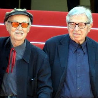 Paolo Taviani (right) with his brother Vittorio. They  worked as a partnership until the latter's death in 2018