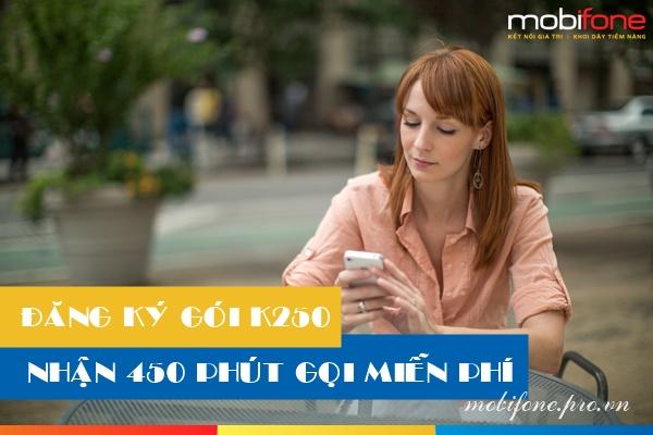 Hướng dẫn đăng ký gói khuyến mãi thoại K250 Mobifone