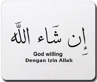 Tulisan Arab Insya Allah