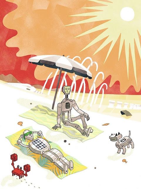 """Robot Apocalypse"" por Sophia Foster-Dimino | ilustraciones modernas, imagenes chidas chistosas imaginativas, creative illustration art drawings, cool stuff, pictures"