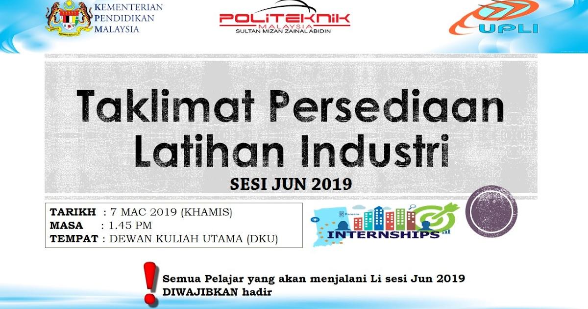 Li Sesi Jun 2019 Taklimat Persediaan Latihan Industri Upli Psmza
