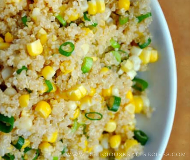 QUINOA WITH CORN AND SCALLIONS